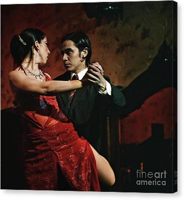 Canvas Print featuring the photograph Tango - The Passion by Michel Verhoef