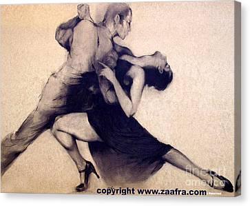 Musica Canvas Print - Tango by Zaafra David