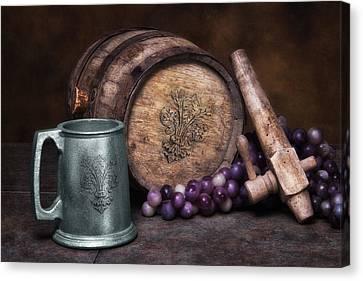 Casks Canvas Print - Tankard Of Drink Still Life by Tom Mc Nemar