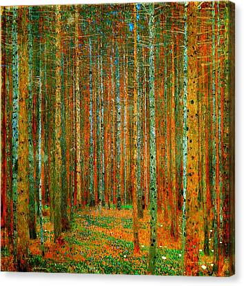 Tannenwald - Pine Forest Canvas Print by Celestial Images