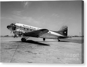 Tans-texas Air Douglas Dc-3 Canvas Print by Wernher Krutein