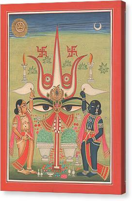 Tantra Tantrik Artwork Painting Hindu Mysterious Art Painting Artist  Canvas Print by A K Mundhra