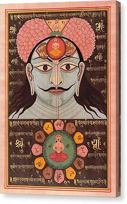Tantra Yantra Miniature Painting Indai Wall Decor Veda Vedic Artwork  Canvas Print by A K Mundhra