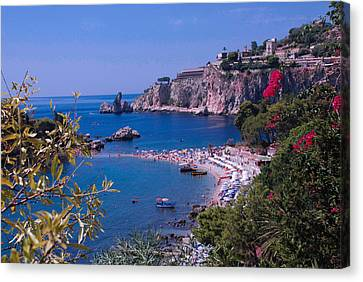 Taormina Beach Canvas Print