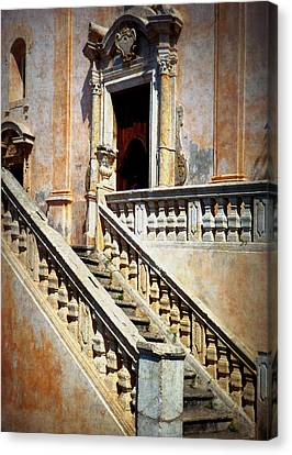 Taormina Staircase Canvas Print by Carla Parris