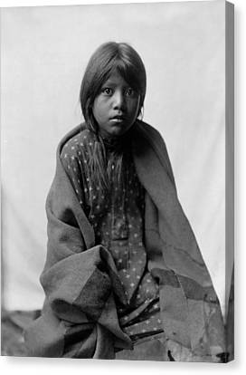 Indigenous Canvas Print - Taos Girl Circa 1905 by Aged Pixel