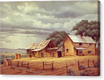 Taos Homestead Canvas Print by Paul Krapf