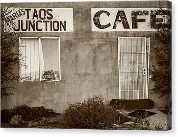 Taos Junction Cafe Canvas Print by Steven Bateson