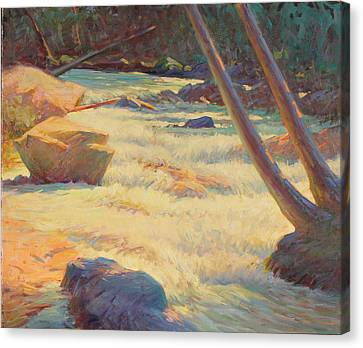 Taos Mountain Rapids Canvas Print by Ernest Principato