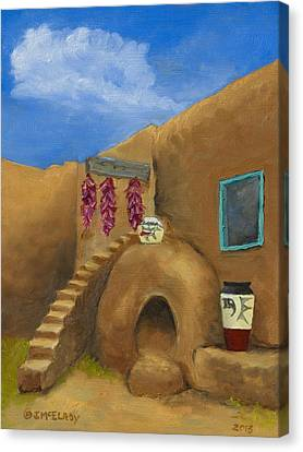 Taos Poetry Canvas Print by Jerry McElroy
