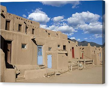 Taos Pueblo Canvas Print by Elvira Butler