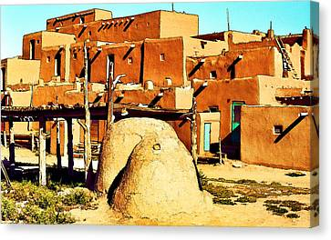 Taos Pueblo II Canvas Print by Dan Dooley