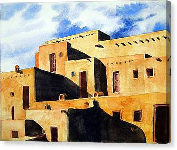 Taos Canvas Print - Taos Pueblo by Sam Sidders