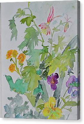 Canvas Print featuring the painting Taos Spring by Beverley Harper Tinsley