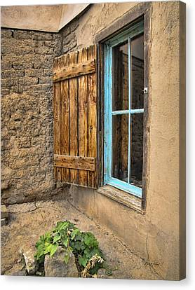 Taos Window Canvas Print by Ann Powell