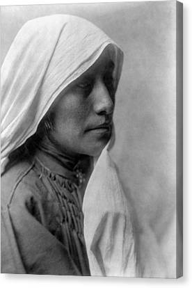 Taos Woman Circa 1905 Canvas Print by Aged Pixel