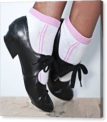 Tap Dance Shoes From Dance Academy - Tap Point Tap Canvas Print by Pedro Cardona