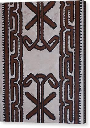 Tapa Cloth Canvas Print by Carol Tsiatsios