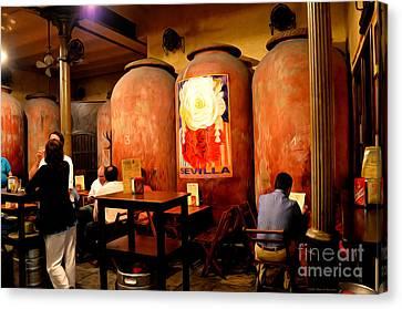 Tapas At Casa Morales Canvas Print by Mary Machare