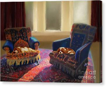 Tapestry Chairs Daydreaming Cavaliers Canvas Print by Magna Carta