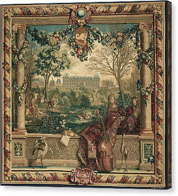 Tapestry Le Mois De Décembre, Le Château De Monceaux Canvas Print by Litz Collection