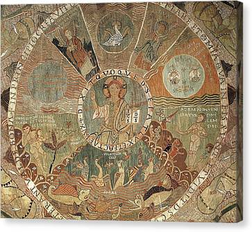 Tapestry Of Creation. 1st Half 12th C Canvas Print by Everett