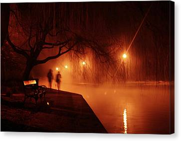 Ghost Canvas Print - Tapolca - Hungary by Cambion Art
