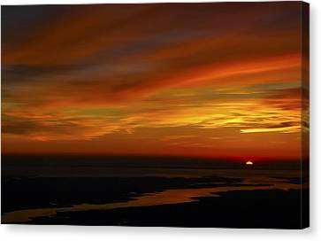 Rappahannock Sunrise II Canvas Print by Greg Reed