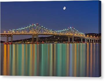 Tappan Zee Bridge Reflections Canvas Print by Susan Candelario