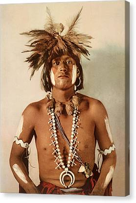 Confidence Men Canvas Print - Taqul, A Moki Snake Priest by William Henry Jackson