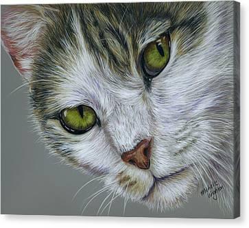 Tara Cat Art Canvas Print