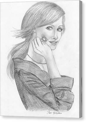 Tara Subkoff Canvas Print by M Valeriano