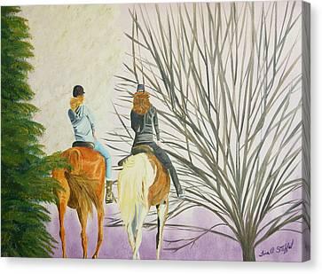 Tara's Ride Canvas Print by Tina Stoffel