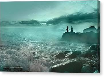 Tarde De Pesca Canvas Print
