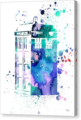 Tardis Canvas Print by Luke and Slavi
