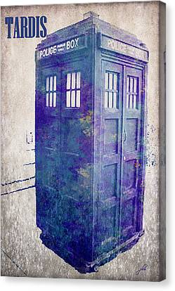 Tardis Canvas Print by Paulette B Wright