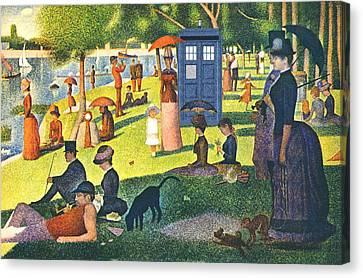 Jatte Canvas Print - Tardis V Georges Seurat by GP Abrajano