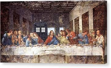 Tardis V Leonardo Da Vinci Canvas Print by GP Abrajano