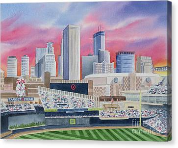 Target Field Canvas Print by Deborah Ronglien