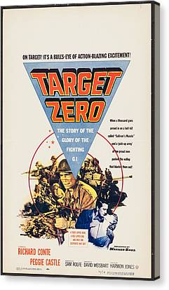 Target Zero, Us Poster, Richard Conte Canvas Print by Everett