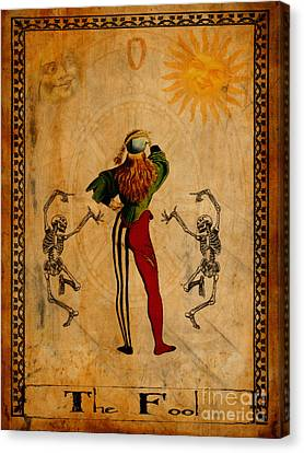Fool Canvas Print - Tarot Card The Fool by Cinema Photography