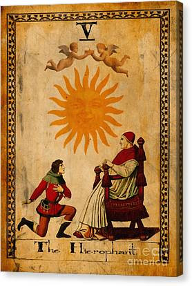 Tarot Card The Hierophant Canvas Print