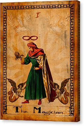 Tarot Card The Magician  Canvas Print