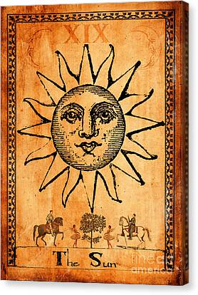 Tarot Card The Sun Canvas Print