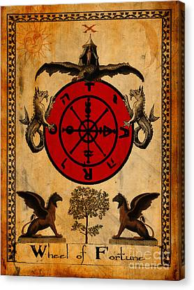 Tarot Card Wheel Of Fortune Canvas Print