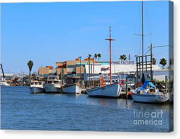 Canvas Print featuring the painting Tarpon Springs Boats by Jeanne Forsythe