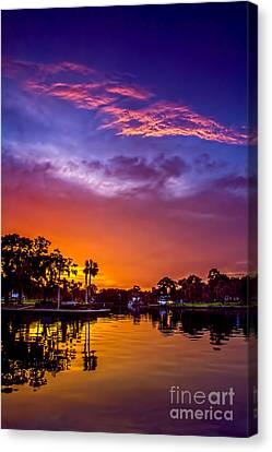 Tarpon Springs Glow Canvas Print by Marvin Spates