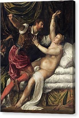 Tarquin And Lucretia, C.1568-76 Canvas Print