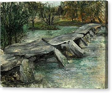 Tarr Steps Canvas Print by Carol Rowland