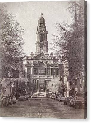 Tarrant County Courthouse Canvas Print by Joan Carroll